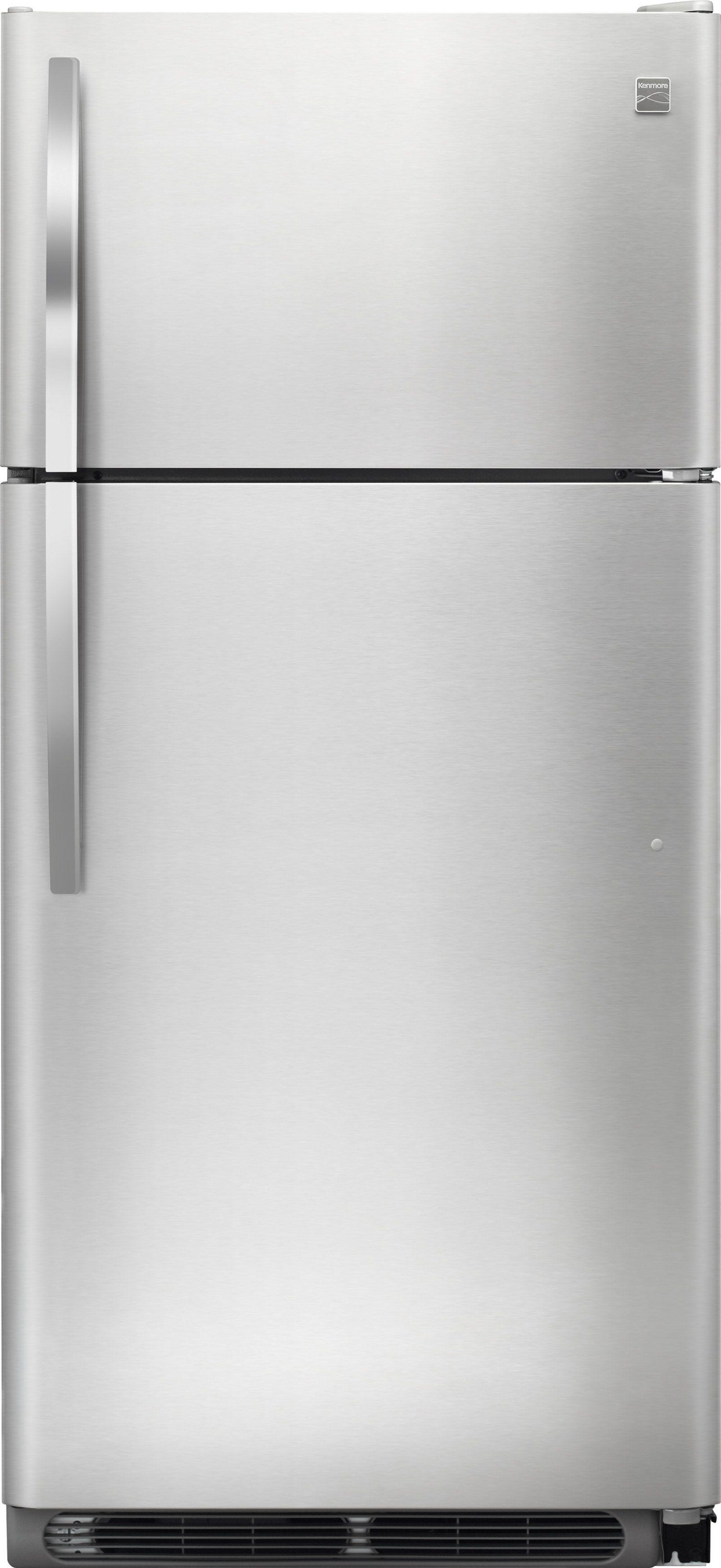 Kenmore 60505 18 cu. ft. Top Freezer Refrigerator w/ Glass ...