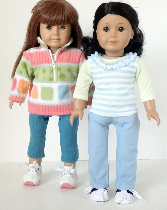 American Girl Doll Clothes -- Pullover, Jeans, Leggings, T-Shirt, Tank -- 5 Piece Outfit (2-27)