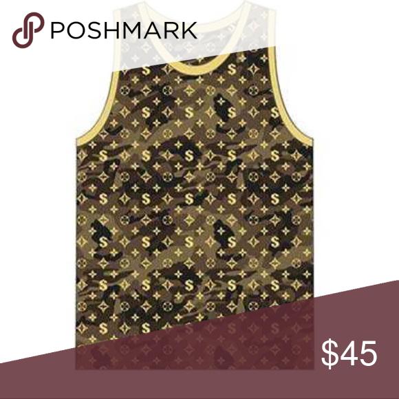 4283968c10c29 Gold camo print mens designer tank top hudson jeans shirts tops also  boutique my posh closet