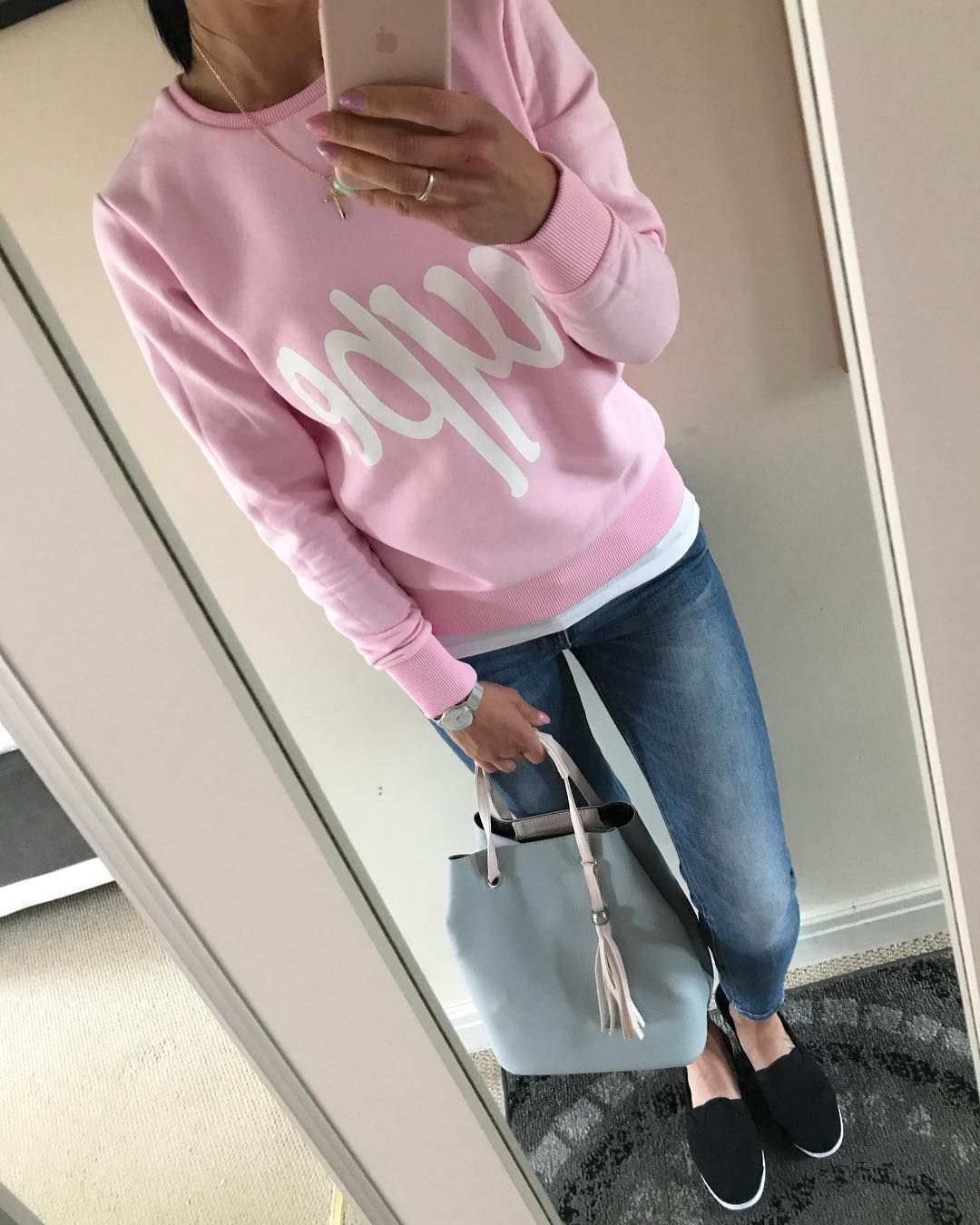 Summer fashion skinny jeans pink hoodie woman fashion pinterest