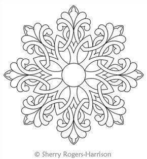 celtic snowflake medallion coloring pages general pinterest keltische knoten. Black Bedroom Furniture Sets. Home Design Ideas