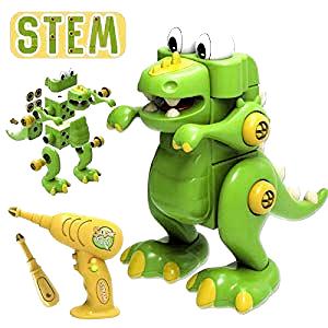 GILOBABY Dinosaurier Montage Spielzeug  Kinder Lehrreich DIY Gebäude Spielzeu...
