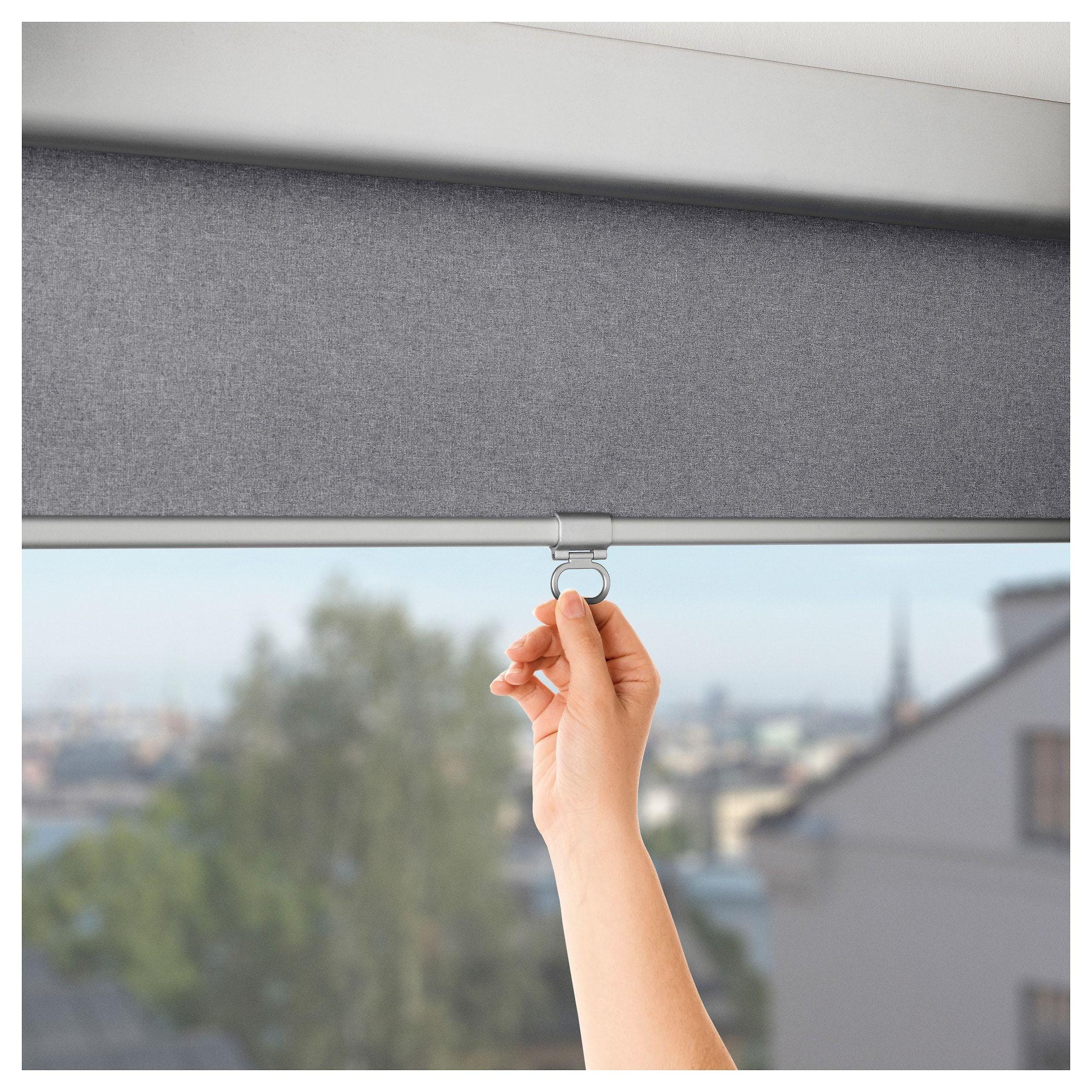 Ikea Tretur Blackout Roller Blind Light Gray In 2019 Window