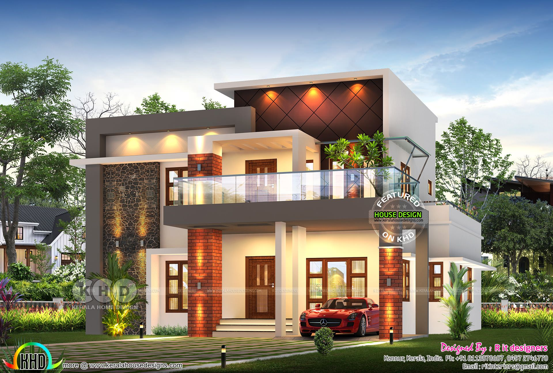 Awesome Rendering Of 4 Bedroom House 2947 Sq Ft Bungalow House Design Kerala House Design Modern Style House Plans
