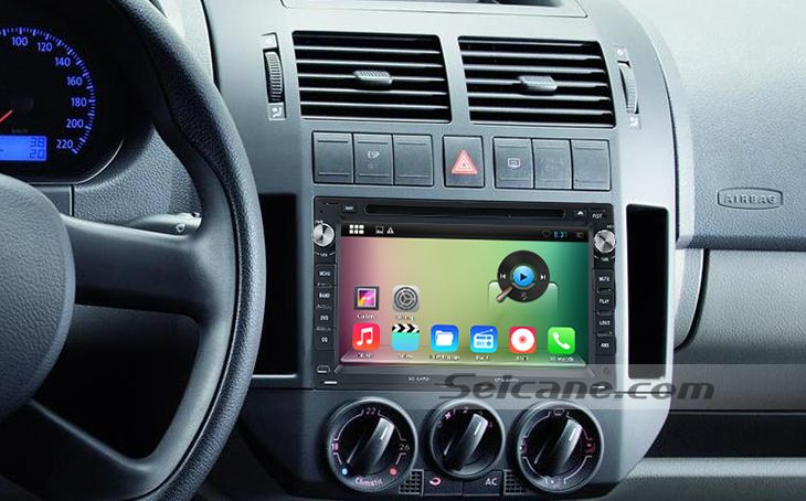 android 4 4 4 2000 2007 vw volkswagen polo apr s march voiture st r o syst me de navigation. Black Bedroom Furniture Sets. Home Design Ideas