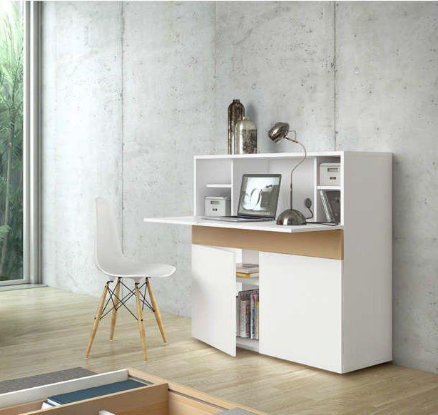 bureau rétractable design blanc focus - bureau achatdesign - ventes
