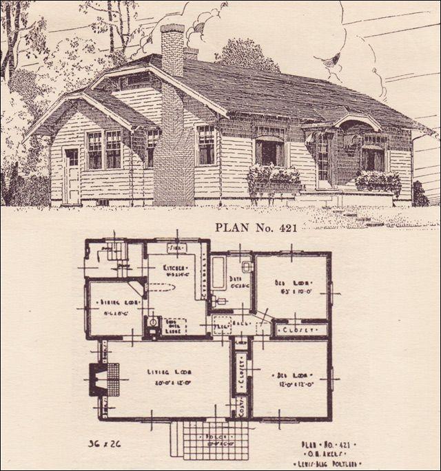 1924 Clipped Gable Cottage - House plans - The Portland Telegram ...