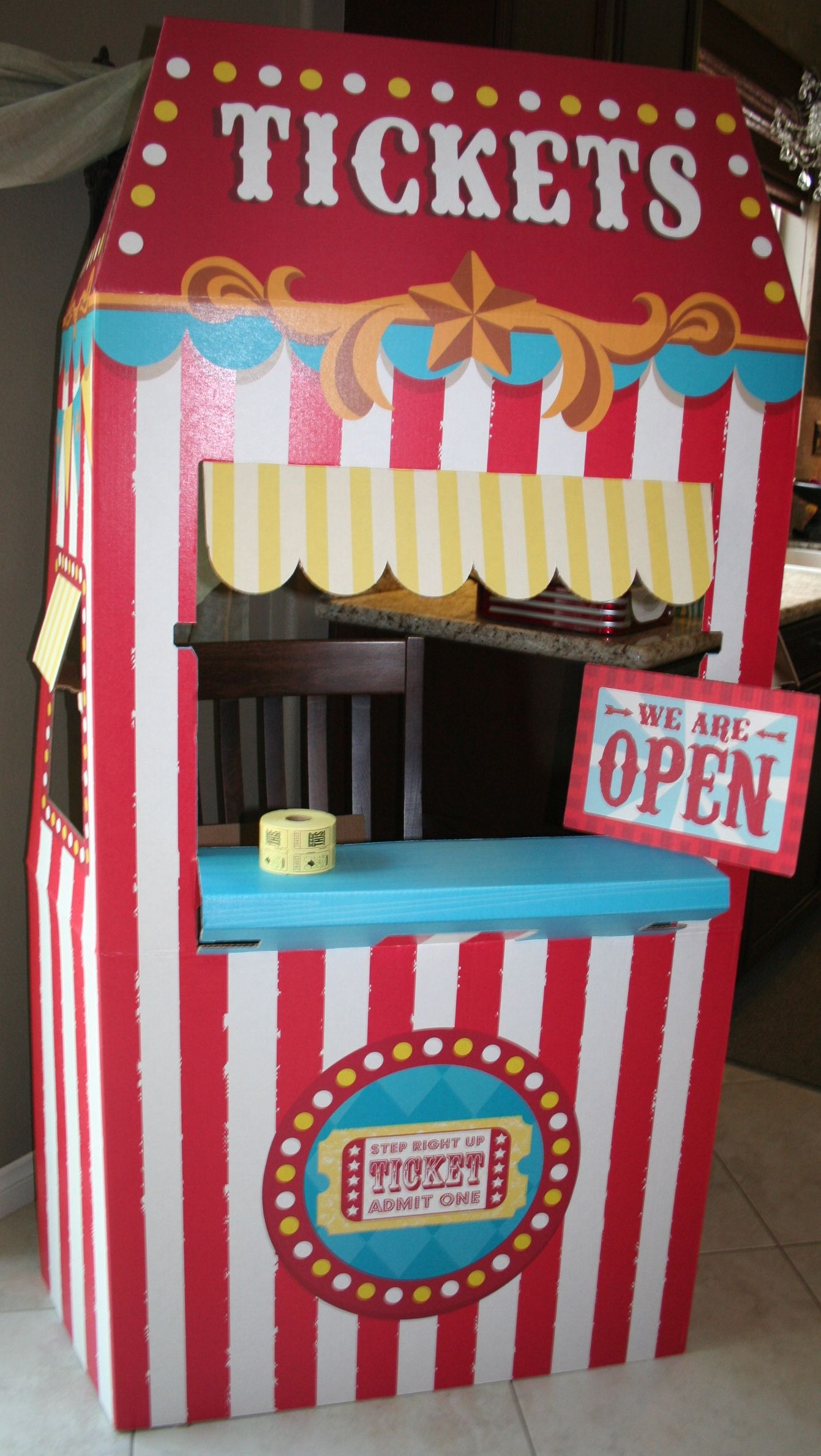Carnival party ticket booth from Birthday Express & Carnival party ticket booth from Birthday Express | My parties and ...