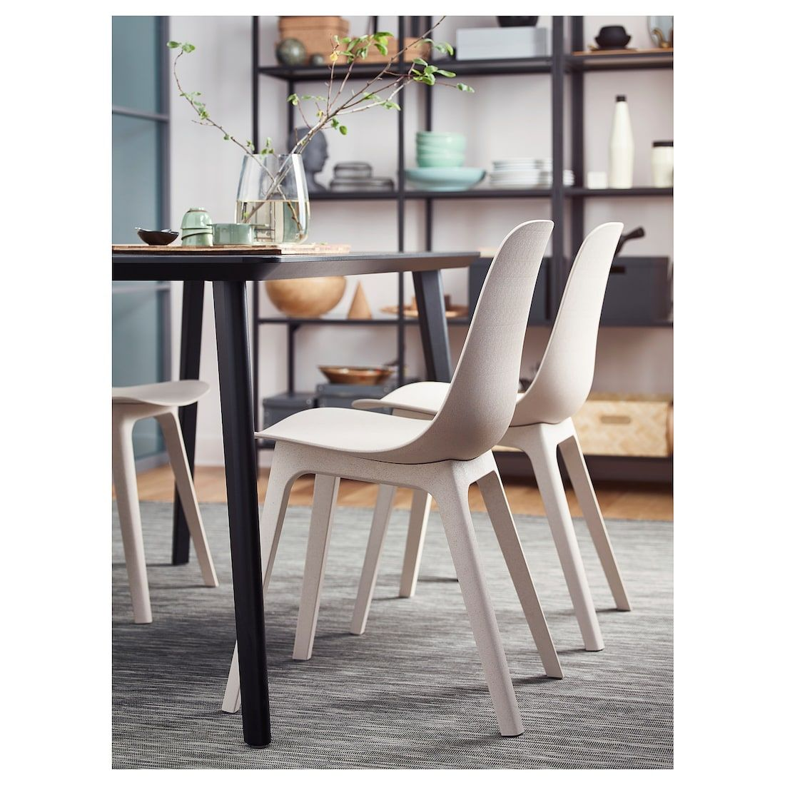 IKEA ODGER White, Beige Chair Chair, Wayfair living room