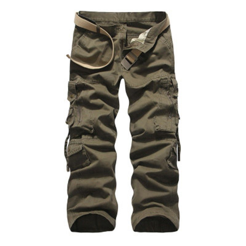 7b796e581e5764 2017 New Arrival Brand-Clothing Mens Cargo Pants Fashion Solid Color  Military Men Pants Quality Cotton Casual Pants Men