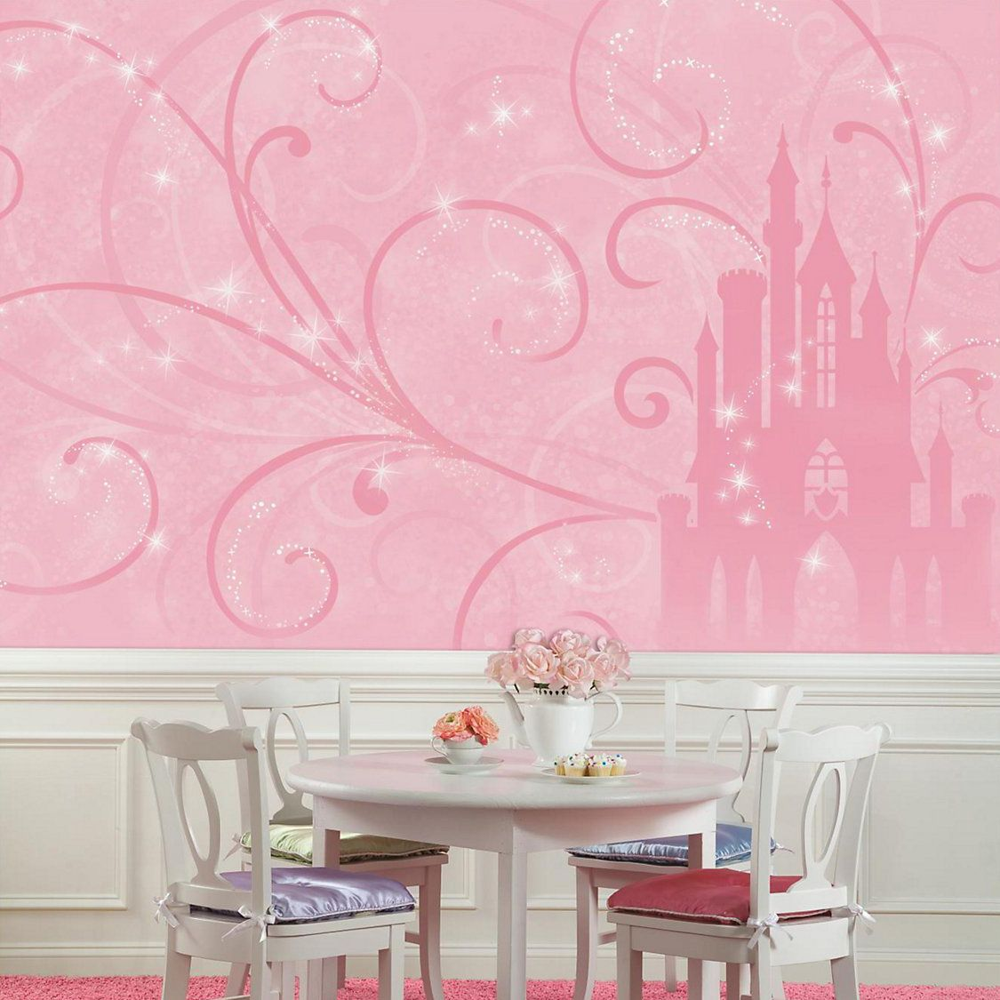 Princess Scroll Castle Removable Wallpaper Mural In 2021 Disney Princess Room Disney Mural Disney Wall