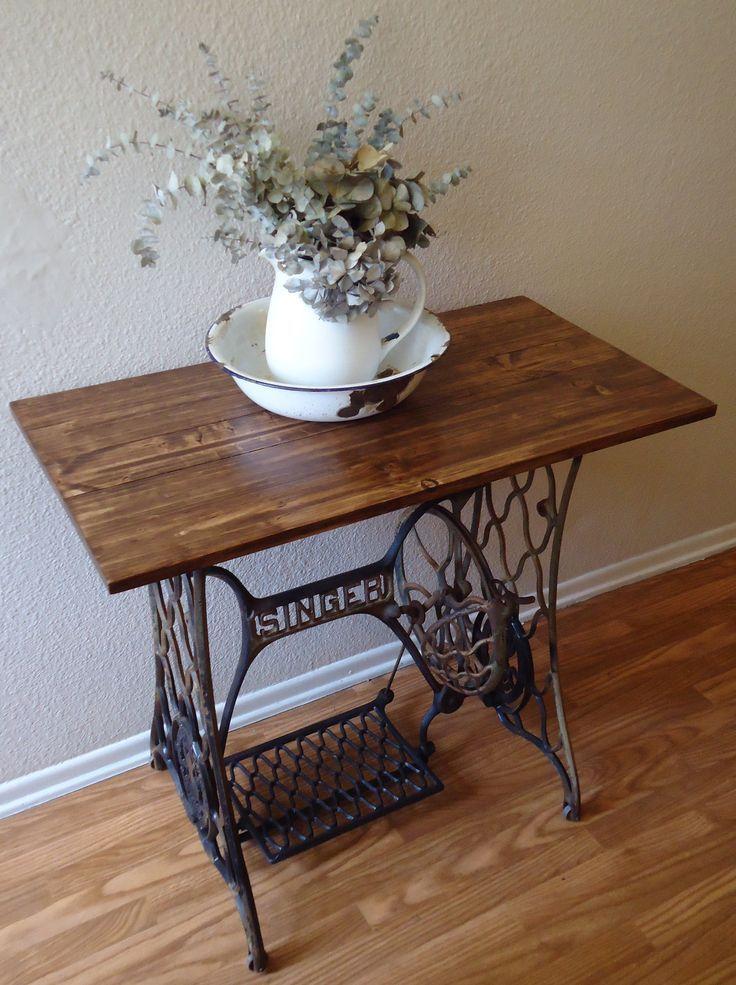 Table with sewing machine base macchina da cucire singer sewing tables sewing machine - Tavoli per macchine da cucire ...