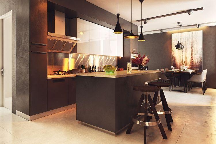 Einrichtungsideen in neutralen Farben aus zwei modernen Wohnungen ...