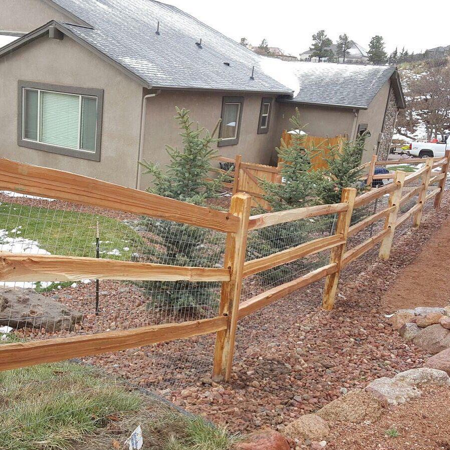 3 Rail Cedar Split Rail Fence Colorado Springs Fence Company Cedar Split Rail Fence Fencing Companies Colorado