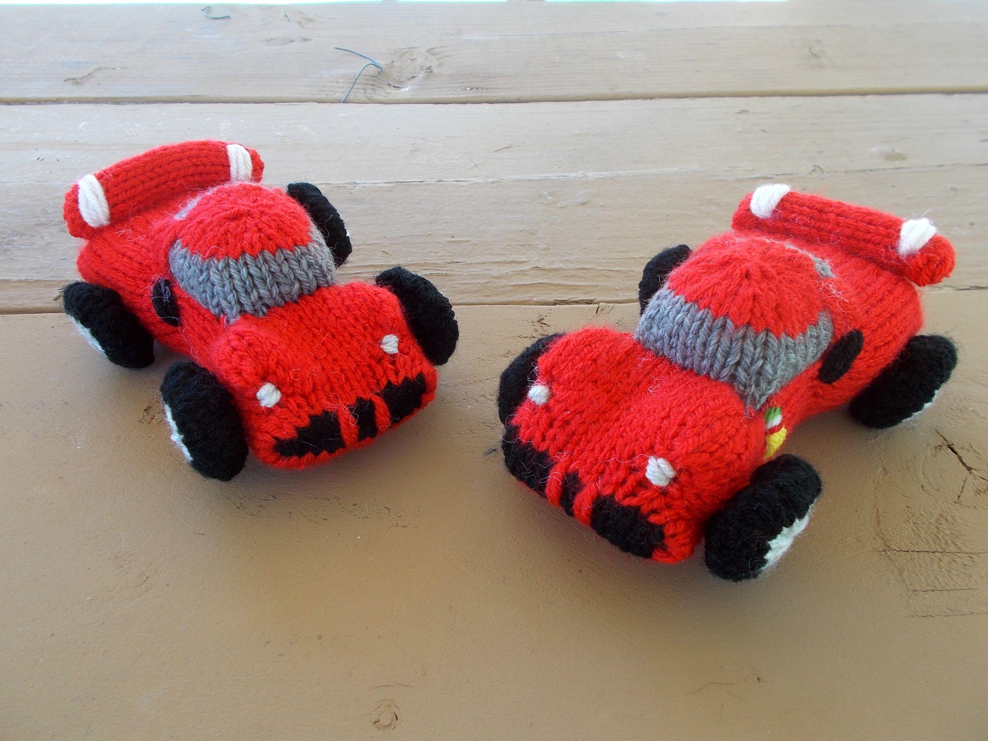 Amigurumi Patterns Cars : Free pattern fridays u2013 knitted u201cferrariu201d sports car! sports cars