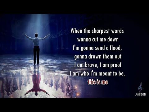 Image result for this is me lyrics when the sharpest words wanna cut me down