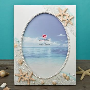 Glorious Hand Painted Beach 8 X 10 Frame From Gifts By Fashioncraft Beach Picture Frames Frame Beach Pictures