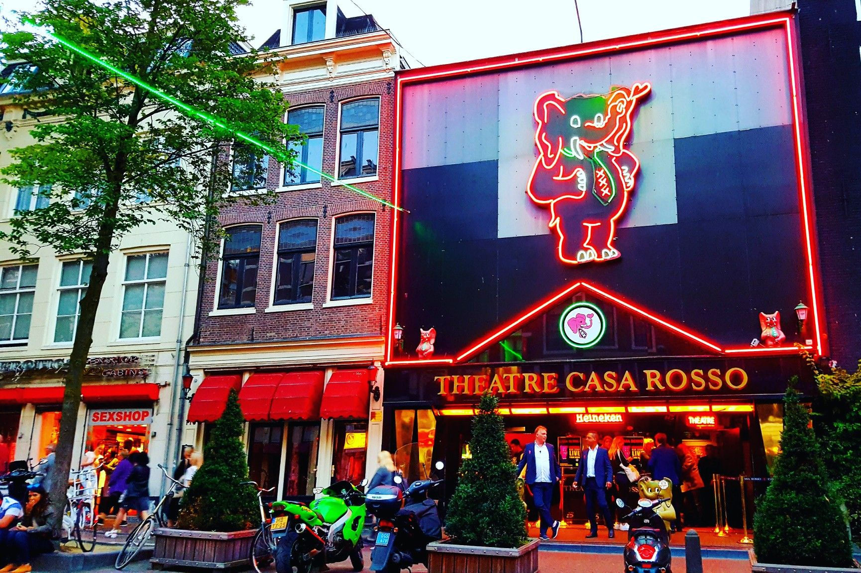 The Casa Rosso Theatre Is One Of The Most Famous Places In The Red