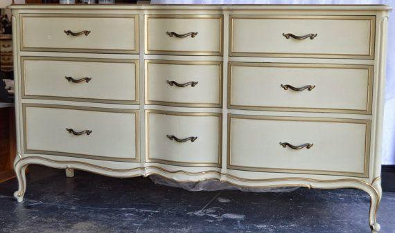 Rare Vintage 9 Drawer Drexel Touraine Dresser Buffet Sideboard