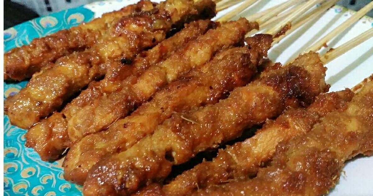 Resep Sate Ayam Manis Rempah Oleh Shanti Tristianti Resep Resep Resep Makanan Makanan