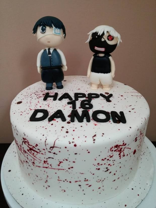 Tokyo Ghoul Cake Birthday Ideas Pinterest Tokyo Ghoul Cake