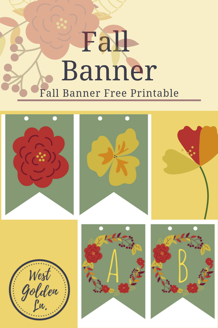Fall Banner Letters Free Printable - West Golden Lane ...