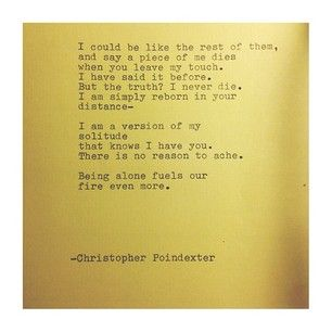 The Universe and Her, and I poem #178 written by Christopher Poindexter
