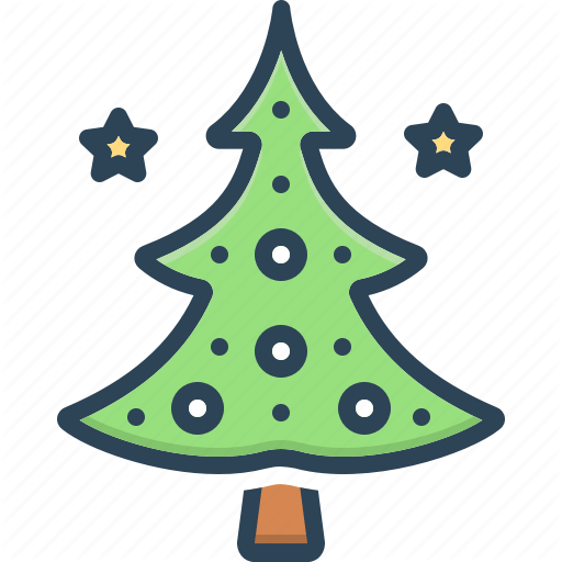 Celebration Christmas Tree Decoration Evergreen Holiday Tree Winter Icon Download On Iconfinder Christmas Tree Christmas Tree Decorations Tree Decorations