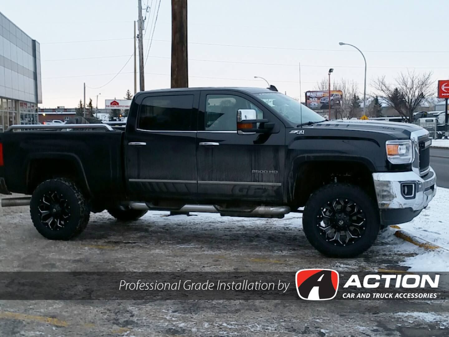 4 Lift Kit By Readylift Suspension Inc Installed On This Gmc By Our Store In Regina Sk Professionalgradeinstallation Lift Kits Installation Cars Trucks