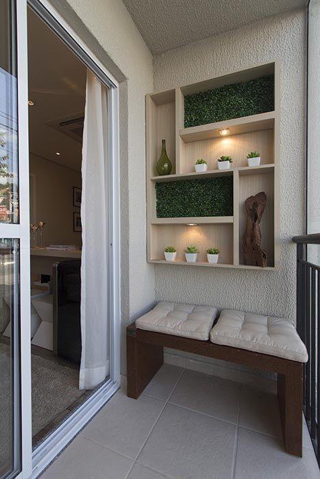 IDÉIAS DE DECORA u00c7ÃO PARA SACADAS E TERRA u00c7OS PEQUENOS E OU MIN u00daSCULOS! in 2019 Home decoration  -> Decoração De Sacada Gourmet Pequena