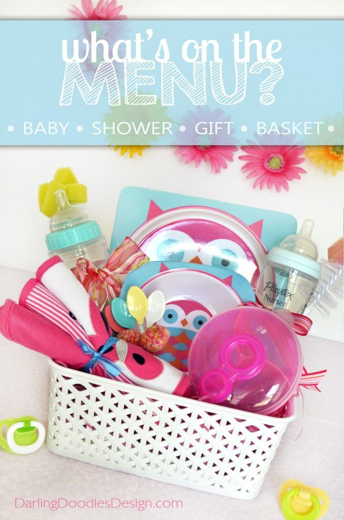 whatu0027s on the menu gift basket idea with printable tag baby shower