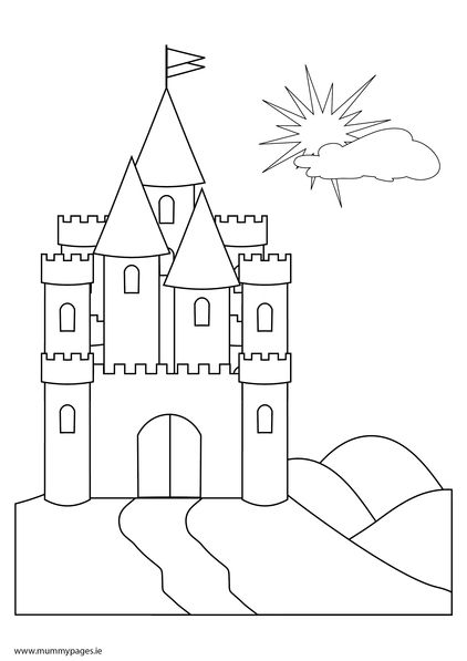 Fairy Tale Castle Coloring Page Fairytale castle on a hill | pre k ...