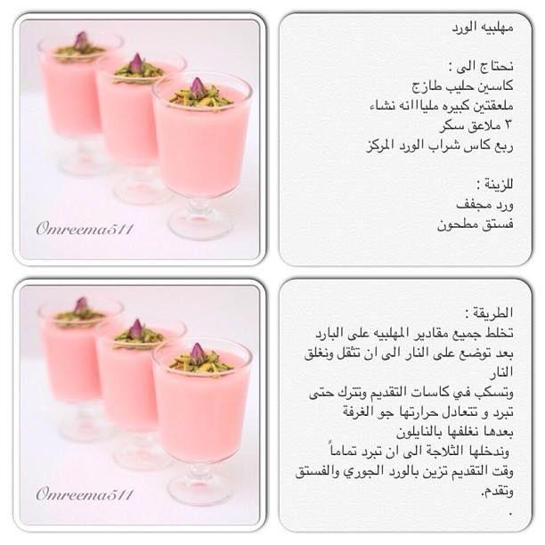 مهلبية الورد Recettes De Cuisine Cuisine Desserts