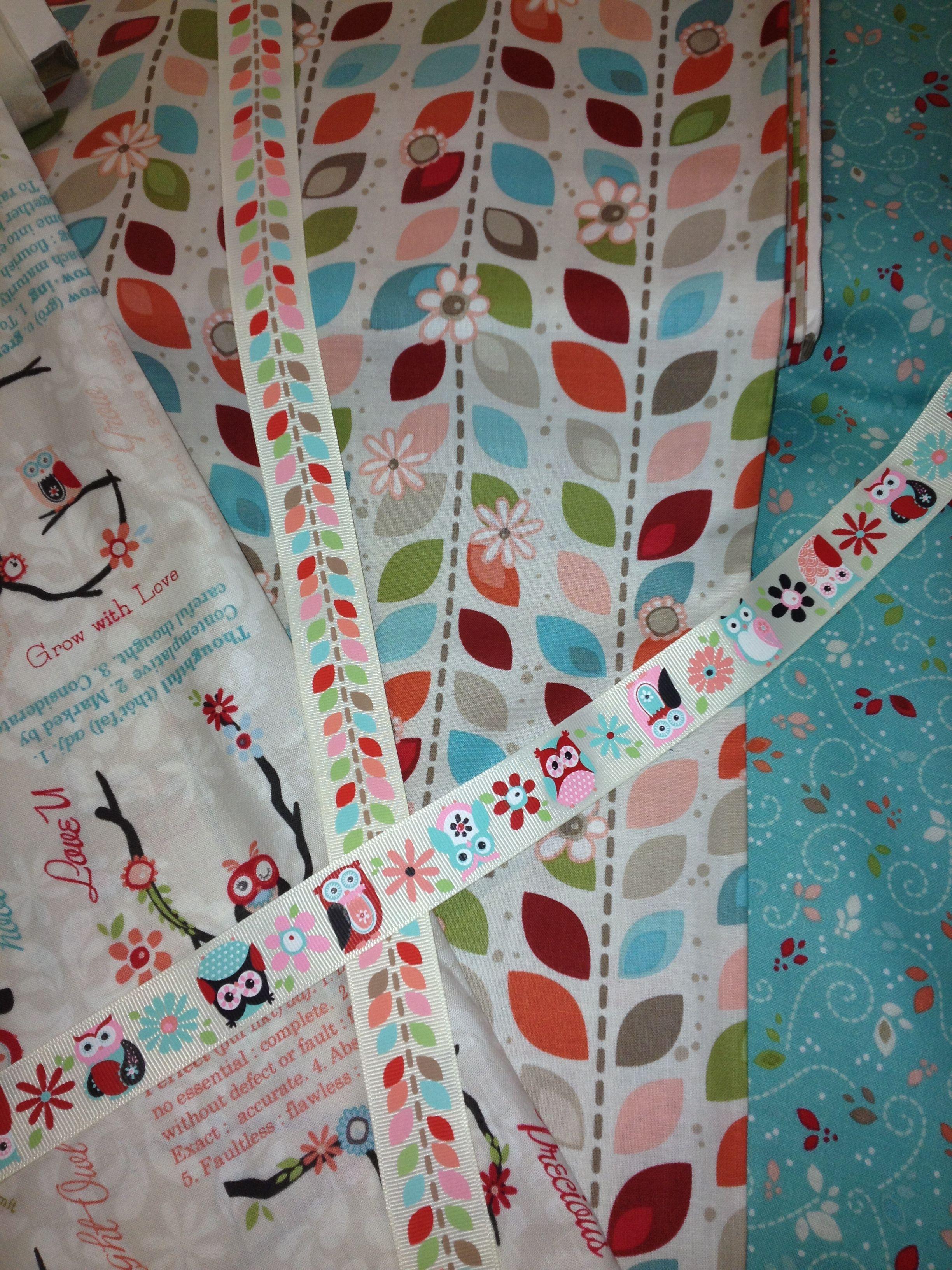 Ribbons and matching fabrics