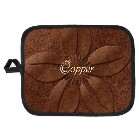 Chic Vintage Copper Potholder on CafePress.com