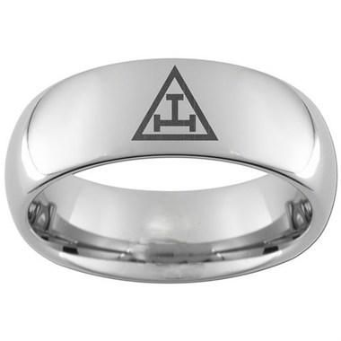 Mason Zone -  Royal Arch T Solo Steel TungRing Royal Arch Tungsten Steel  Ring Band for Freemasons with solo c93ae14e14ea