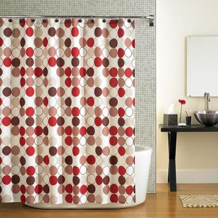 Mainstays Hometrends Cirque Red Shower Curtain 1 Each Walmart