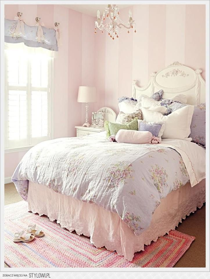 Striped wall - wide Shabby Chic Pinterest Chambres, Chambre
