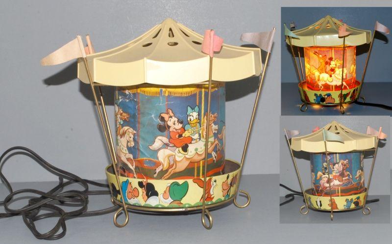 Superior Disneyland 1955 Econolite Motion Lamp Carousel