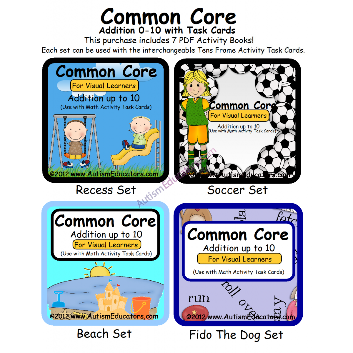 Common Core Addition 0 10 For Visual Learners