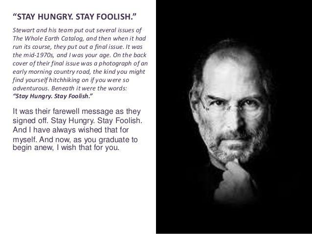 Steve Jobs commencement speech. startup business