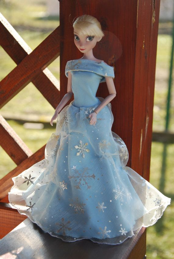 eac1f0384213 Elsa Frozen or Barbie ball gowns by LucieVran on Etsy