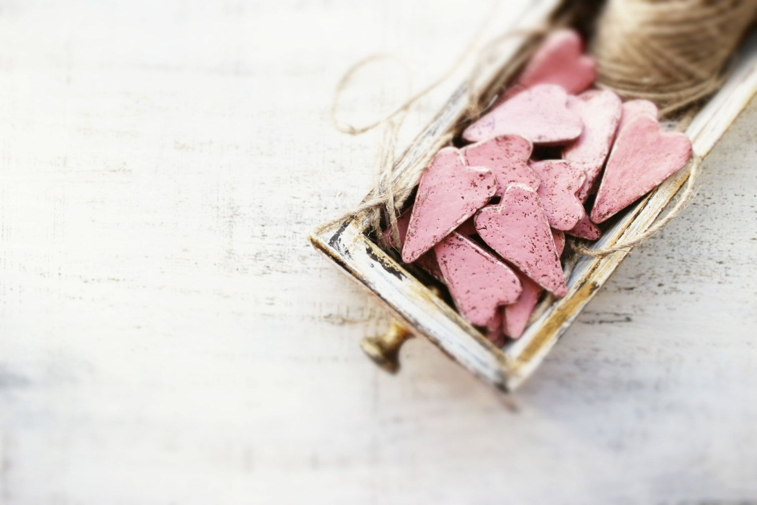 5 colors rustic wedding favors hearts magnets cottage chic guest ...