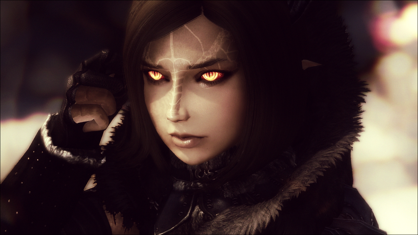 Mour - Fully Voiced Halfdragon Follower at Skyrim Nexus