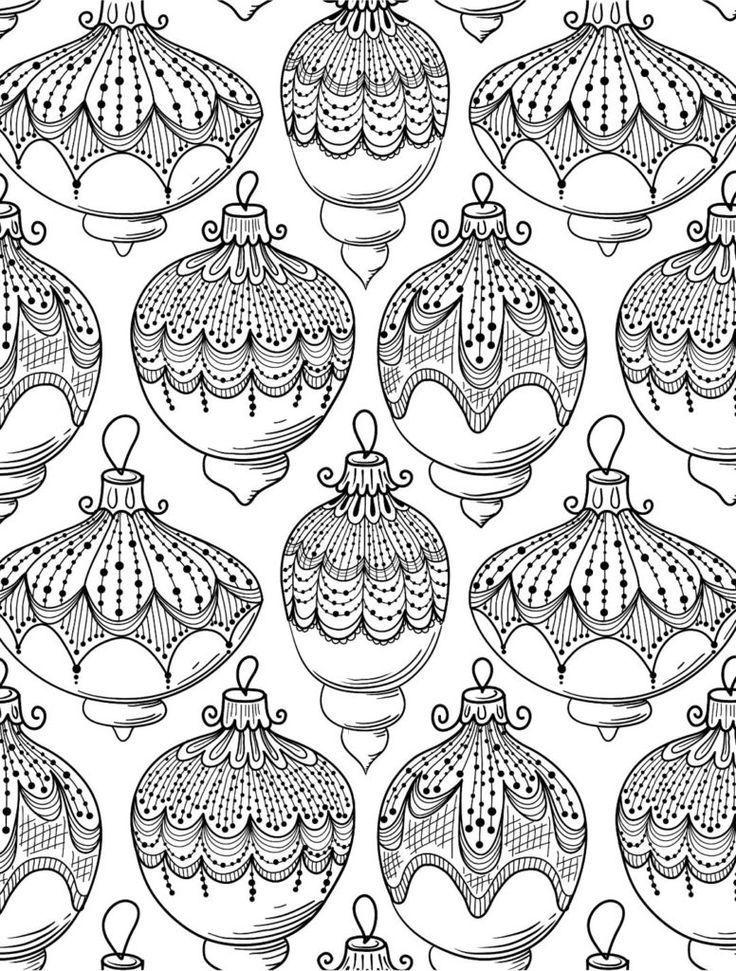Weihnachten Malvorlagen für Erwachsene - Karten - #Cards #