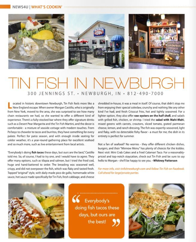 Tin Fish Newburgh In Fresh Seafood Restaurant Casual Private Dining