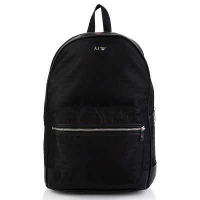 Armani Jeans Black Multi Logo Large Rucksack Men S Satchel