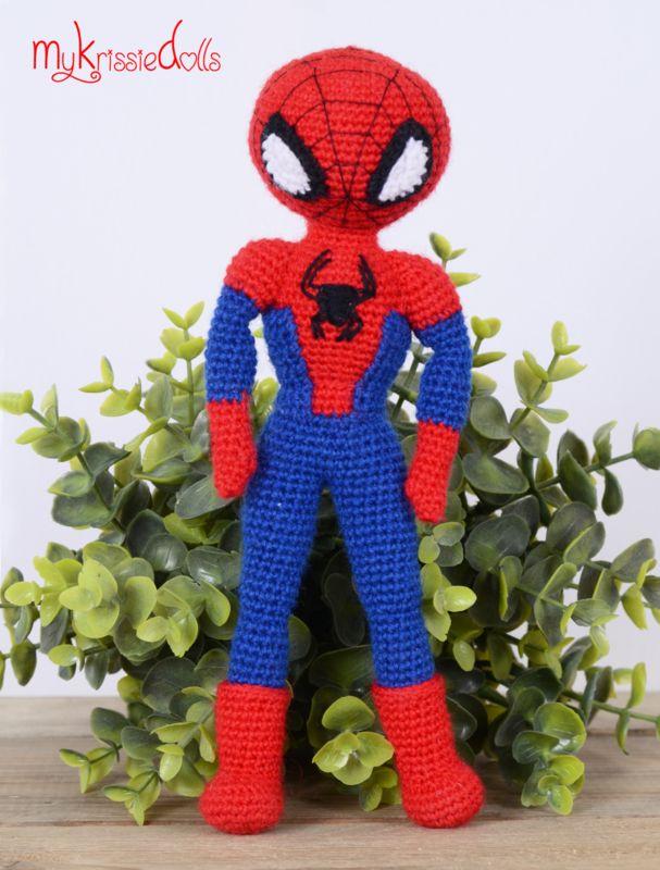 Spiderman (modificatie op patroon Krissie) | mom | Pinterest