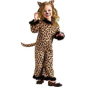 Pretty Leopard Little Girl's Halloween Costume