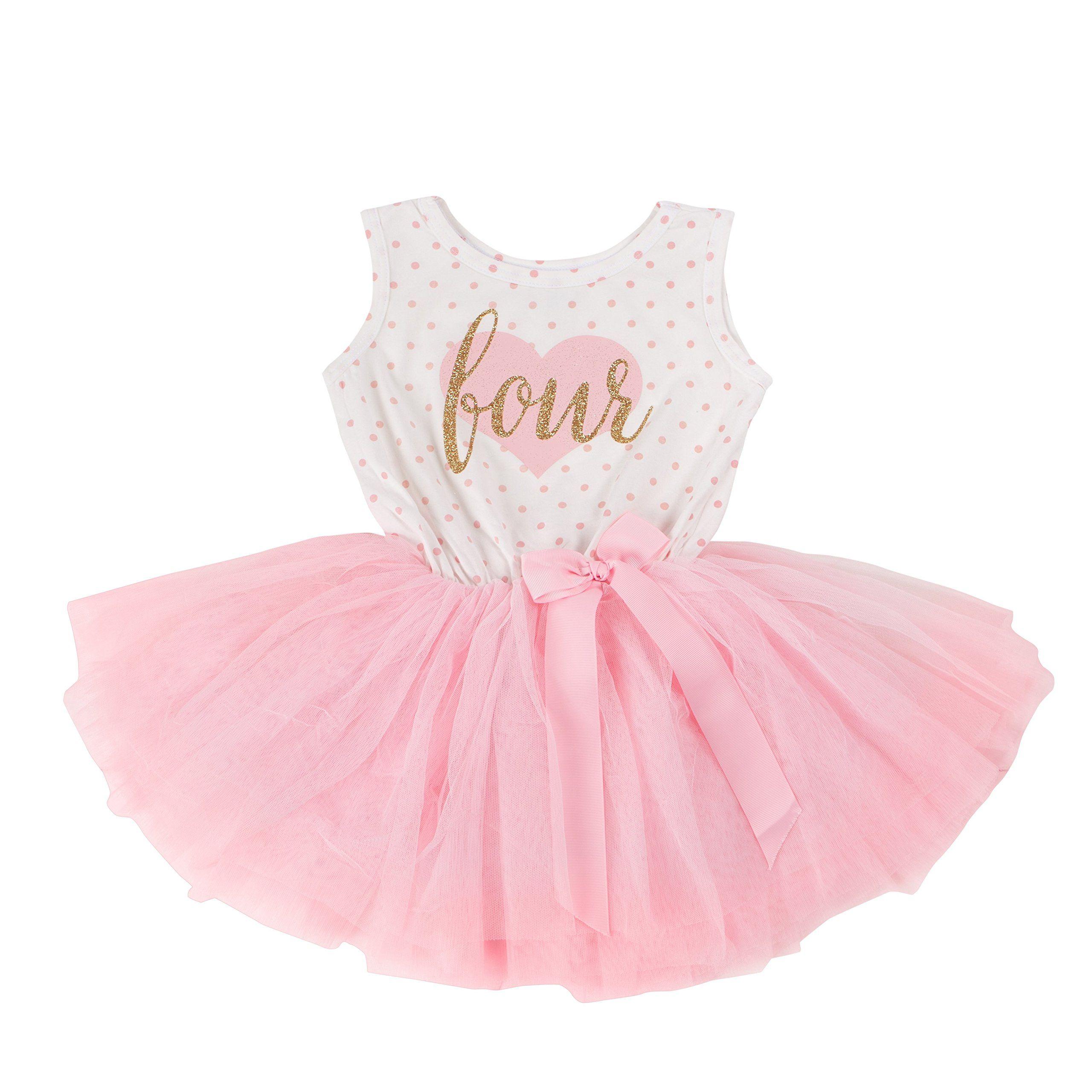 Grace /& Lucille 4th Birthday Dress Gold 4T Sleeveless